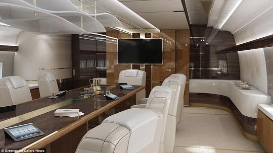 Phòng hội thảo để tổ chức các cuộc họp ngay trên máy bay.