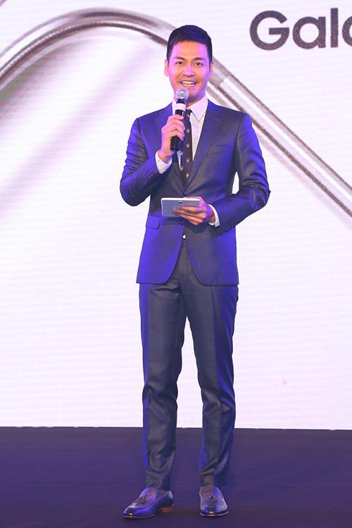 MC Phan Anh dẫn dắt sự kiện chiều nay.