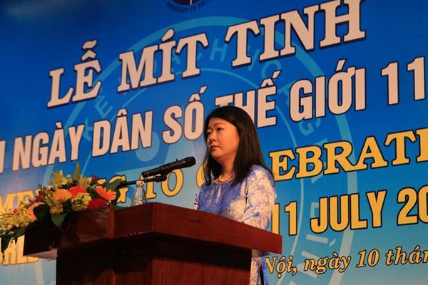 Bà Ritsu Nacken - Quyền trưởng đại diện Quỹ dân số Liên Hợp Quốc tại Việt Nam