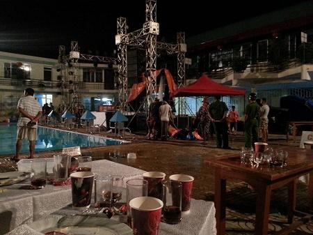 Bể bơi Cung Việt Tiệp, nơi diễn ra Pool Part làm một người tử vong bị điện giật