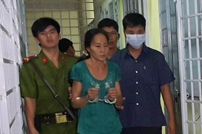 Đối tượng Nguyễn Thị Vân bị công an bắt giữ. Ảnh: K.AN