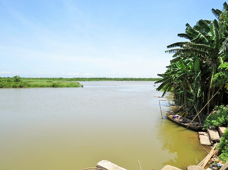 Đầm nuôi trồng thủy sản của gia đình ông Vươn, nơi xảy ra vụ cưỡng chế gây ồn ào nhất năm 2012