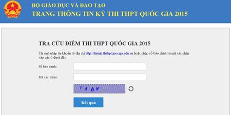 Thí sinh có thể truy cập vào trang tra cứu điểm thi của Bộ GD&ĐT để xem kết quả.