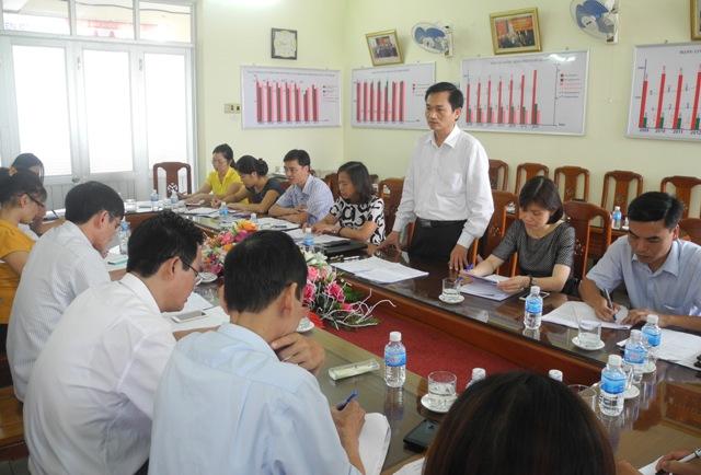 TS Lê Cảnh Nhạc phát biểu tại buổi làm việc với Ban chỉ đạo công tác DS-KHHGĐ tỉnh Tuyên Quang