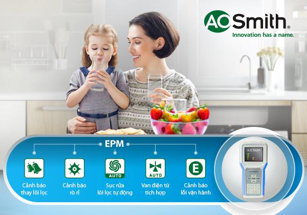 Máy lọc nước A. O. Smith giúp bạn an tâm khi chăm sóc cho tổ ấm của mình