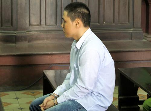 Bị cáo Hùng trước tòa.