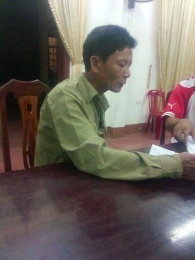 Nghi can Nguyễn Hữu Chính tại cơ quan điều tra.