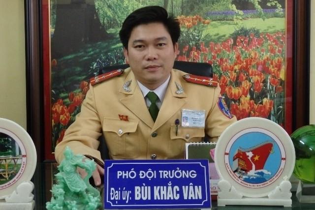 Đại úy Bùi Khắc Vân, Phó đội trưởng đội CSGT TP. Thanh Hóa