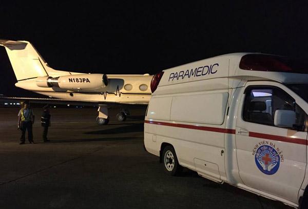 Máy bay N183PA chở ông Nguyễn Bá Thanh đã hạ cánh an toàn. Ảnh: VNE