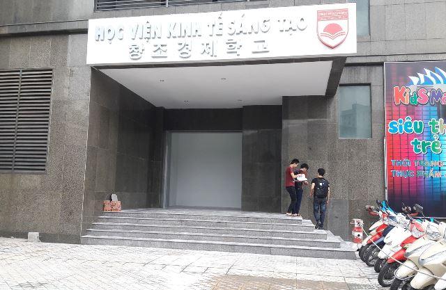 Văn phòng Trung tâm - nơi xảy ra xích mích giữa học viên T. và TS Hưng. Ảnh: N.T