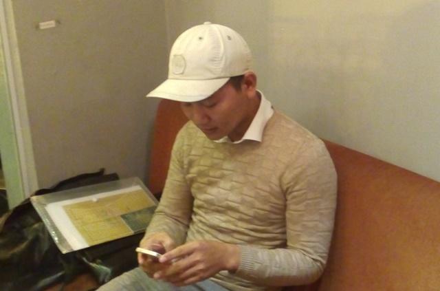 Học viên Nguyễn Văn Thắng - người bị chửi trong video cho biết mình đang liên lạc với ông Phan Văn Hưng để đối chất công khai. Ảnh: N.T
