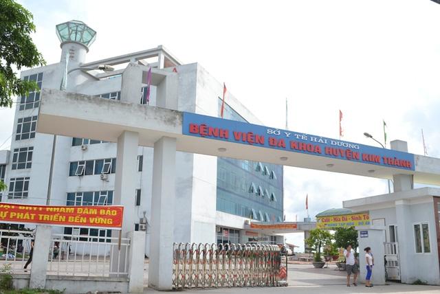 cháu Ngân K được cấp cứu tại Bệnh viện ĐK Kim Thành. Ảnh: Đ.Tuỳ