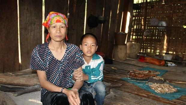 Bà Hoàng Thị Khanh mất người thân vì ma túy. Ảnh: Hà Châu