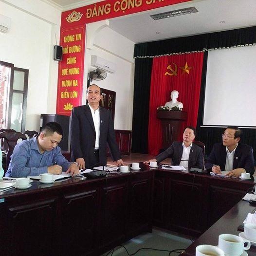 Ông Đỗ Văn Lợi-PGĐ Sở GD&ĐT Hải PHòng thông tin với báo chí về vụ việc của trường THPT Lê Hồng Phong. Ảnh: VT