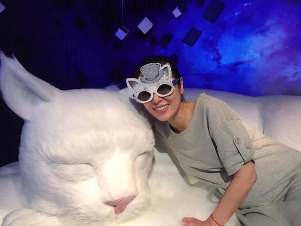 Hình ảnh mới nhất của bà bầu Lâm Tâm Như được chia sẻ trên trang cá nhân. Ảnh: Weibo