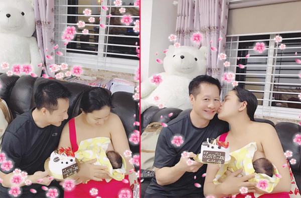 Phan Như Thảo chia sẻ khoảnh khắc hạnh phúc bên chồng con.