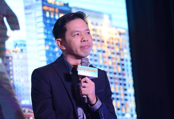 Thái Hòa trong buổi showcase phim Vệ sĩ Sài Gòn tại Hà Nội hôm 15/10.
