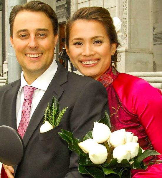 Hoa hậu Ngọc Khánh kết hôn lần 2 với chồng tây vào năm 2010