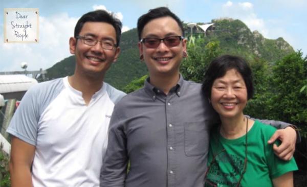 Bà Khoo dành tình yêu thương vô bờ cho hai con trai, Ming và En.