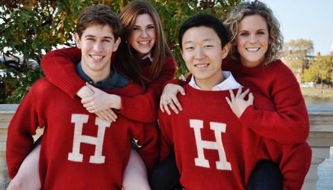 Sinh viên Đại học Harvard, Mỹ. Ảnh: Harvard.edu.