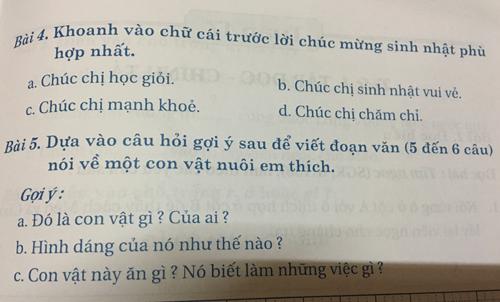 Từ gợi ý của sách Cùng em học tiếng Việt và hỗ trợ của bố mẹ, con chị Khánh đã hoàn thành xong bài văn tả con mèo, tuy nhiên câu văn ngắn ngủi, không có cảm xúc.