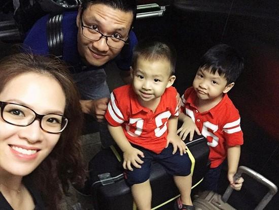 Gia đình hạnh phúc của MC Đan Lê.