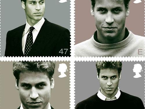 Năm 2003, một bộ tem về Hoàng tử William được phát hành nhân dịp sinh nhật thứ 21 của anh. William vinh dự là thành viên hoàng gia đầu tiên trong lịch sử có bộ tem riêng.