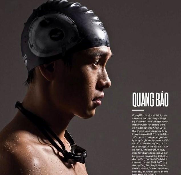 Bảo từng có nhiều thành tích bơi lội khi còn là vận động viên trong đội tuyển quốc gia Việt Nam.