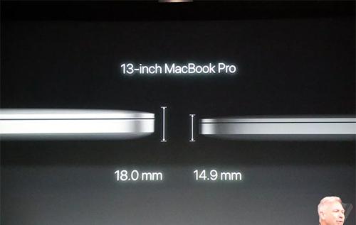 MacBook Pro mới mỏng và nhẹ hơn.