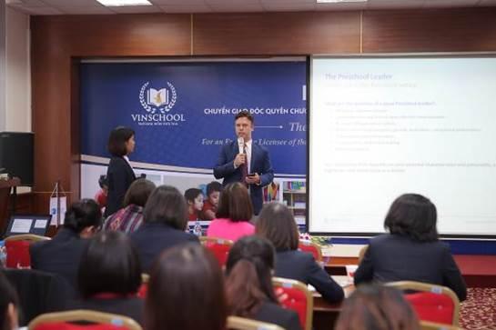 Toàn bộ cán bộ quản lý, giáo viên mầm non của Vinschool được đào tạo bởi chuyên gia của IPC