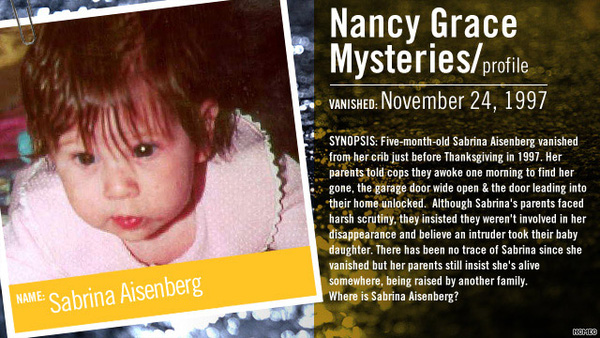 Vụ mất tích của cô bé Sabrina đã khiến dư luận nước Mỹ rúng động.