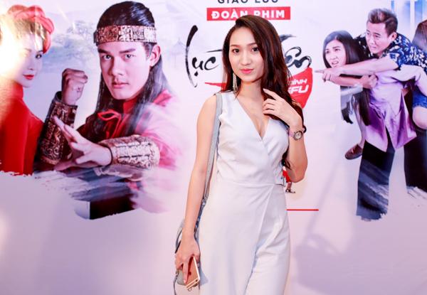 Hot girl Cao Mỹ Kim cũng tham gia phim điện ảnh của vợ chồng Hoàng Phúc.