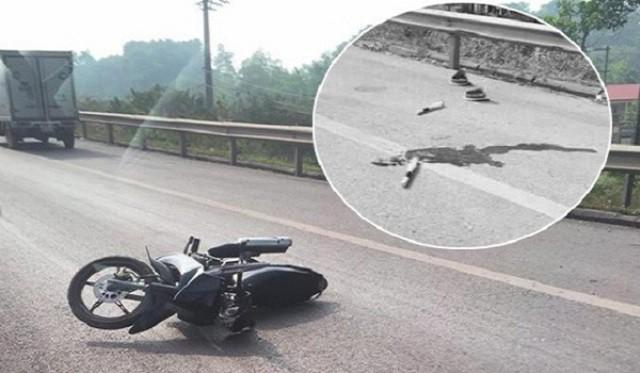 Hiện trường xảy ra vụ tai nạn trên cao tốc Hà Nội- Thái Nguyên. Ảnh: PV