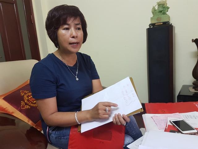 Chị Tạ Như Hoa trao đổi với PV Báo Gia đình & Xã hội về sự việc.