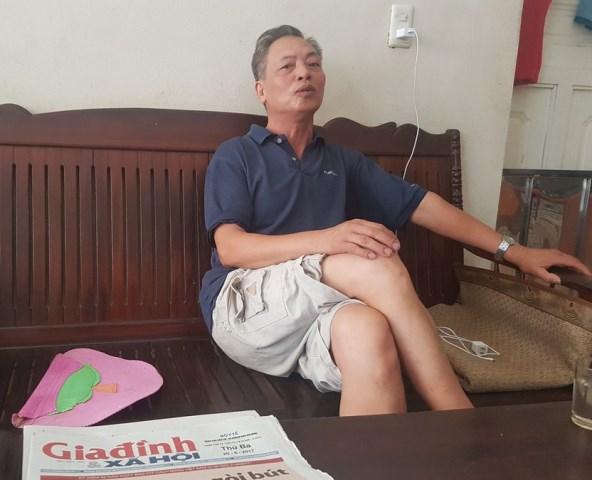 Ông Nguyễn Thành Nam, trưởng khu Nguyễn Quốc Trị, thị trấn Nam Sách. Ảnh: PV