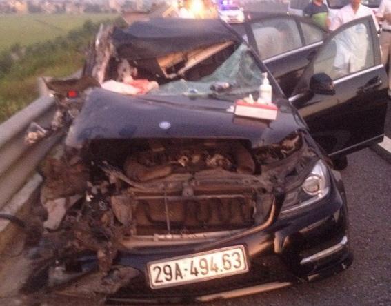 Hiện trường vụ tai nạn giao thông nghiêm trọng. Ảnh: (Cơ quan Công an cung cấp)
