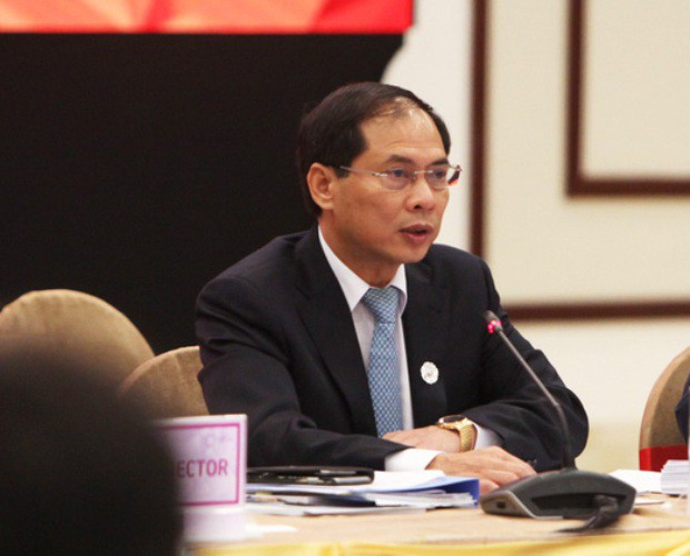 Thứ trưởng Bùi Thanh Sơn phát biểu khai mạc và chào mừng các quan chức cao cấp của 21 nền kinh tế APEC.