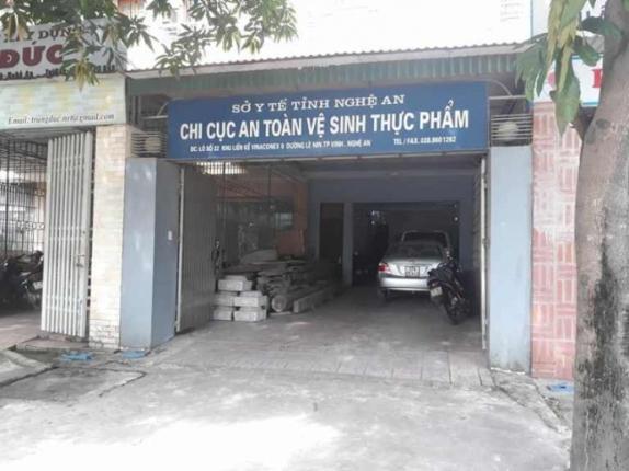 Trụ sở Chi cục An toàn vệ sinh thực phẩm Nghệ An.