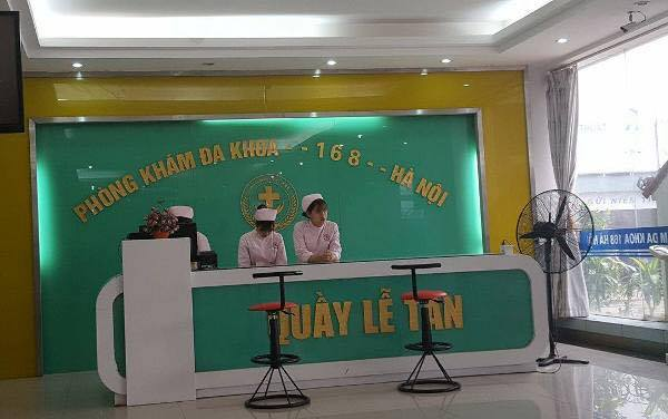 Phòng khám đa khoa 168 Hà Nội , nơi thai phụ Trần Thị Thu T khám.