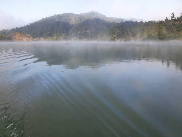 Khu vực gần hồ thủy điện Thác Xăng - nơi xảy ra vụ mất tích. Ảnh: Đinh Hằng