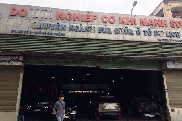 Gara ô tô Mạnh Sơn có hai chi nhánh trên đường Giải Phóng và đường Láng (Hà Nội).