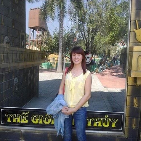 Lúc chưa gặp nạn, chị Trang là cô gái xinh đẹp (ảnh gia đình cung cấp)