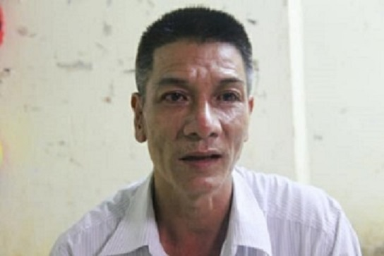 Anh Nguyễn Viết Đặng, bố hai bé. Ảnh: Nguyễn Hảo