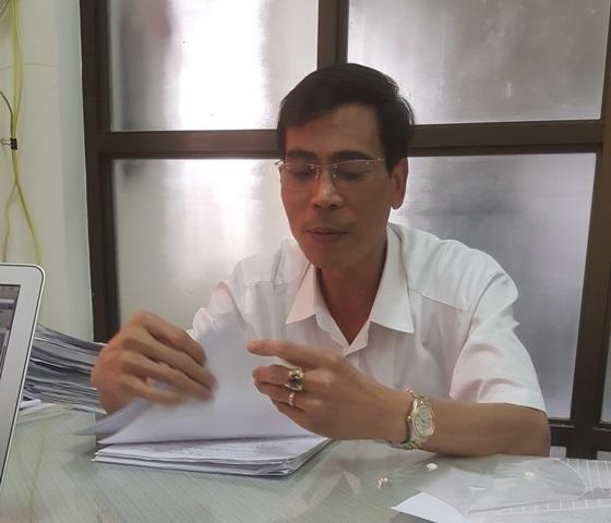Ông Vũ Hồng Thanh – Phó chủ tịch UBND phường Giảng Võ trong buổi làm việc với PV Báo Gia đình & Xã hội chiều 28/7.