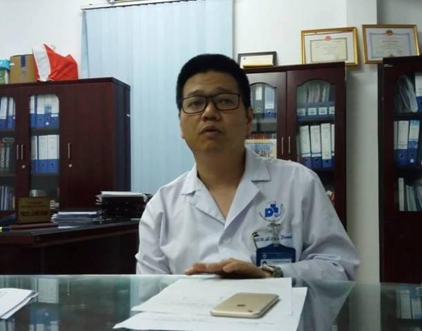 Bác sĩ Lê Hữu Doanh, Phó giám đốc bệnh viện Da liễu Trung ương.