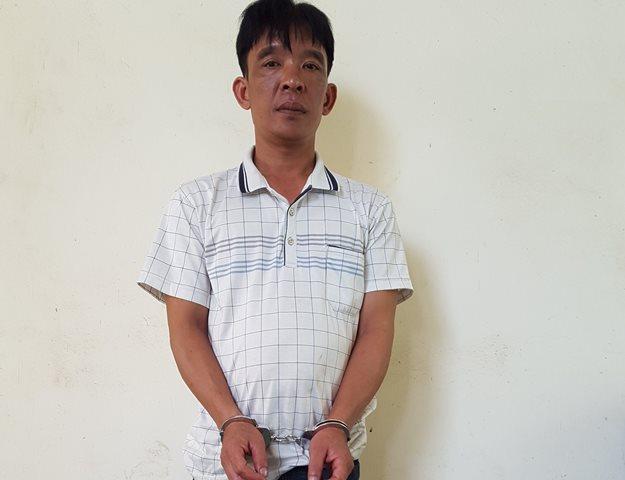 Trần Văn Hùng tại cơ quan điều tra (ảnh công an cung cấp)