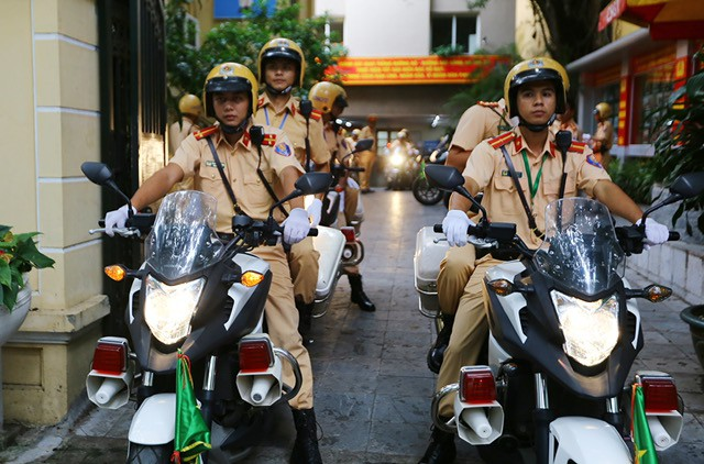 Dàn mô tô hiện đại được sử dụng để phục vụ dẫn đoàn lãnh đạo 21 nền kinh tế dự APEC tại Đà Nẵng.