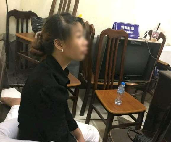 Lưu Xuân H. tại cơ quan công an.