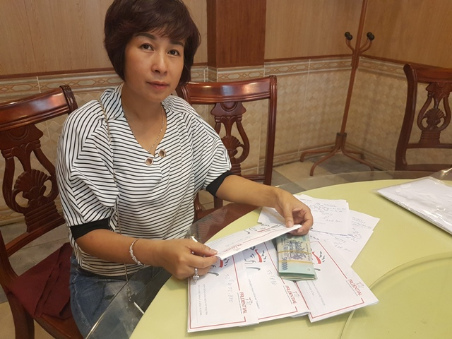 Sau buổi làm việc, phía Cty Prudential đồng ý hủy cả 4 hợp đồng và trả cho chị Tạ Thị Hoa số tiền 202.557.200 đồng.