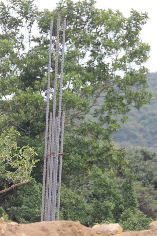 ...cột sắt thép mọc lên giữa bán đảo Sơn Trà.
